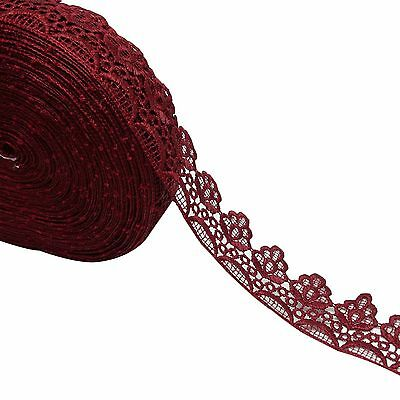 """Dress Embellishment Red Venise Lace Trim 5.0 Inche"""" Crafting By 1 Yard """""""