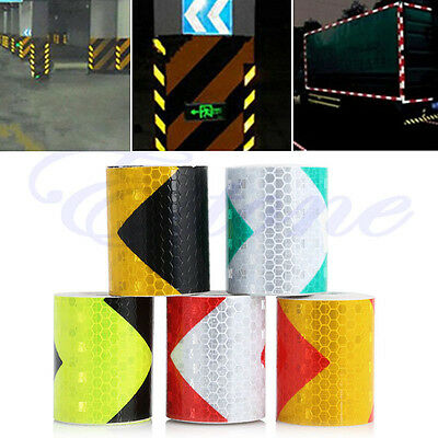 "3M 2""X118"" Night Reflective Safety Warning Conspicuity Tape Strip Arrow Sticker"