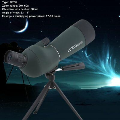 20-60x60 Zoom Telescope Spotting Scope With Tripod Hunting Camping Telescope OZ