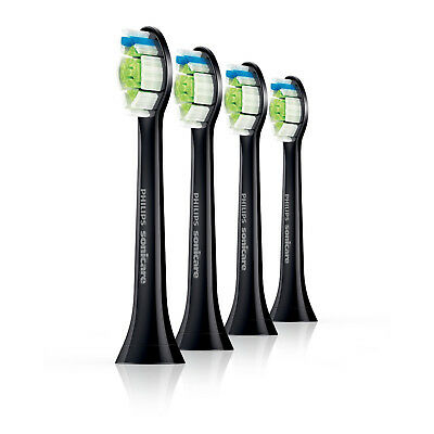 Philips Sonicare HX6064/33 Diamond Clean Brush Heads Pack of 4 Black Replacement