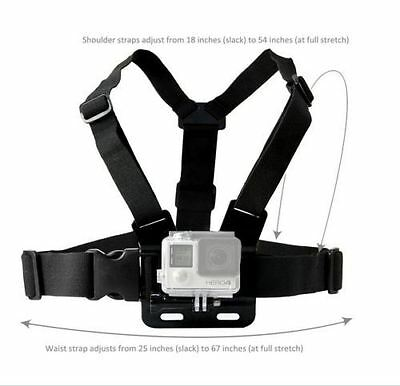New US Adjustable Elastic Chest Strap Harness Mount for GoPro Hero 1 2 3 3+ 4 5
