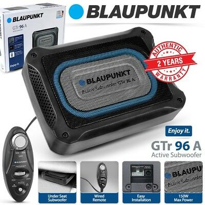 BLAUPUNKT 150W Class AB Car Underseat Active Subwoofer with Built In Amplifier