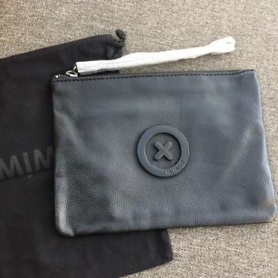 Mimco Supernatural Matte Black Medium Pouch • Authentic Rrp $99.95