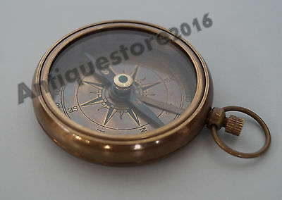 Nautical Solid Brass Antique Compass Collectible Beautiful Vintage 2 Inch Gift..