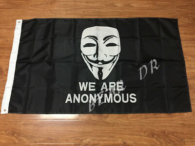 WE ARE ANONYMOUS FLAG 3x5FT 90x150CM TWO GROMMETS