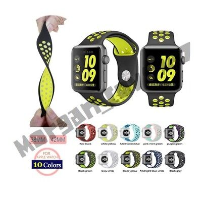 Nike Style Sports Strap For Apple Watch - UK Seller **High Quality**