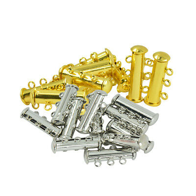 20pcs Silver/Gold Plated Magnetic Clasps With Loop For Jewelry Making DIY
