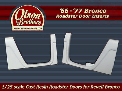 Olson Brothers Resin Roadster Doors for new Revell 1/25 Ford Bronco