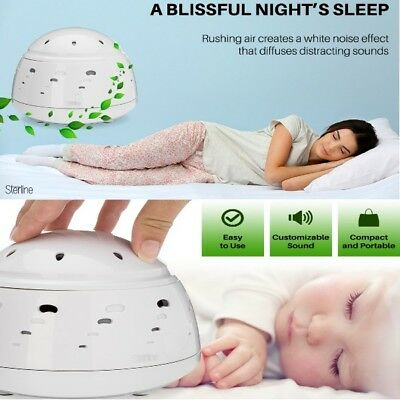 Sound Machine with 6 Settings Real Natural Fan White Noise for Work & Sleep