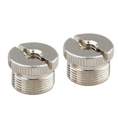 2x 5/8'' Male to 1/4'' Female Mic Adapter Screw Thread for Micphone Stand