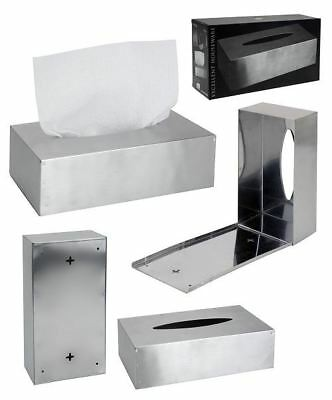 Stainless Steel Rectangular Box for Tissue Holder Tin Durable Wall Mount