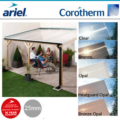 Polycarbonate Roofing Sheets | Lean-To Roofs | Carports | Ariel Corotherm | 25mm