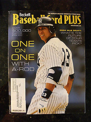 Sept Oct 2004 Beckett Baseball Card Plus Magazine Price Guide A-Rod #13