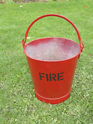 Vintage FIRE Bucket. Galvanised with hoop handle. Ideal for kindling or planter