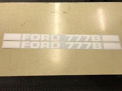 Ford 777B Loader Decals
