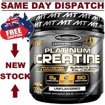 Muscletech Platinum 100% Creatine 500 grams 80 Servings AUS STOCK FAST SHIPPING!