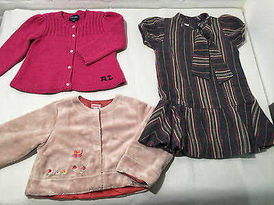 Lot Of 3 Pretty Girls Clothes - Age 2 - Ralph Lauren - Catamini - Vr