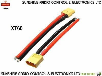 XT60 Male & Female Plug Connectors With 12AWG Silicon Wire Cable 100mm Pigtails