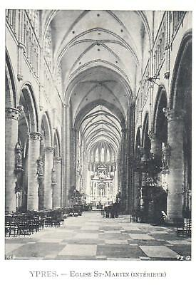 Carte Postale - Ypres - CPA - Eglise St Martin - interieur