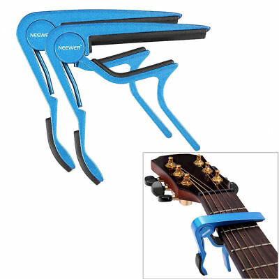 2PCS Neewer Blue Tune Quick Change Capo Key Clamp for Electric/Classic Guitar