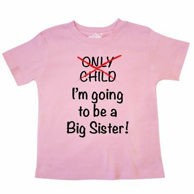 Inktastic I'm Going To Be A Big Sister! Toddler T-Shirt Sister Only Child Cute