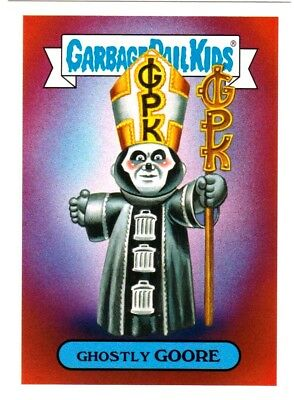 """2017 Garbage Pail Kids Battle of The Bands """"GHOSTLY GOORE"""" Sticker Card"""