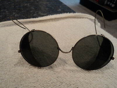 Vintage WW2  Bausch & Lomb  Motorcycle Steampunk Side Shield Safety SunGlasses