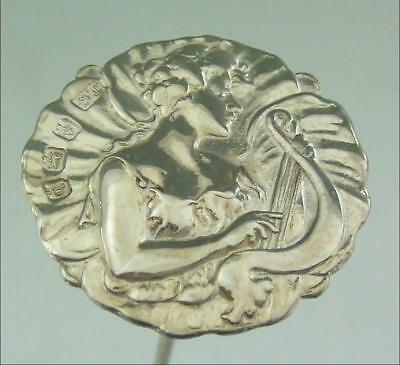 ART NOUVEAU SOLID SILVER HAT PIN    1902 JOSEPH GLOSTER  Tom Lawson collection
