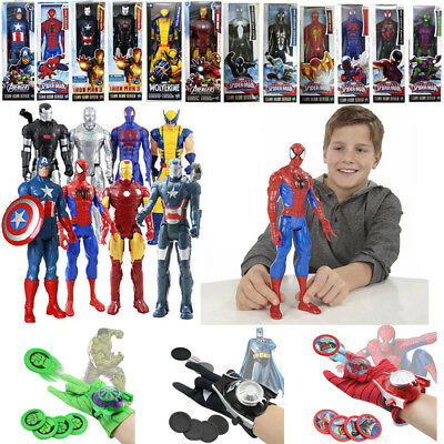 Superheld Spiderman Action Figur Figuren & Handschuhe Launcher Kinder Spielzeug
