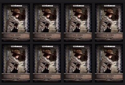 8x CARL GRIMES-STEEL-FORGED-TOPPS WALKING DEAD CARD TRADER