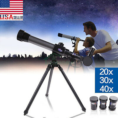 20X 30X 40X Refractor Astronomical Telescope with Tripod for Children Kid Gift