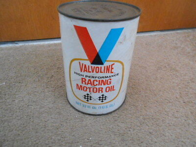Vintage Valvoline High Performance Racing Motor Oil Can 1 Quart Qt With Spout