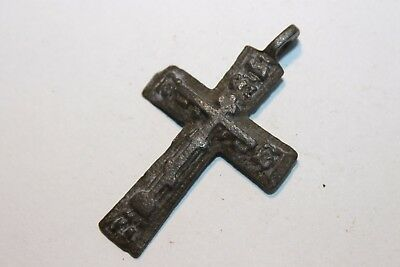 Ancient Russian Bronze Cross! XVII-XVIII Century! (D229)