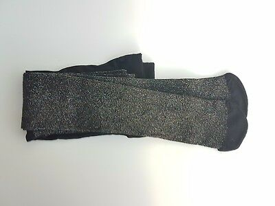 Girls Black Multi Coloured Sparkley Tights, age 2-3