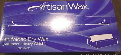 "Artisan Wax Interfolded Dry Wax / 500 Sheets / 12"" X 10-3/4"" / Heavy Weight"