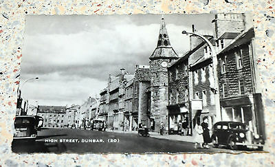 Rare?  Vintage  Postcard of The High Street, Dunbar - posted 1963