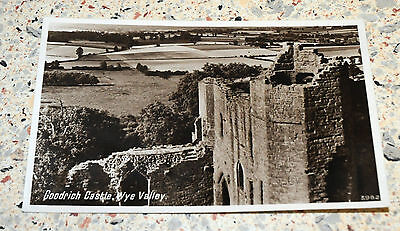 Rare? Vintage Postcard of Goodrich Castle, Wye Valley - Real Photograph