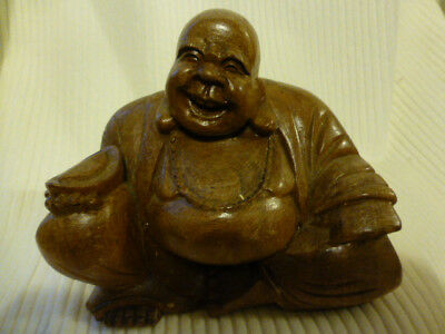 Chinese antique wooden carving  Buddha H12 L 14