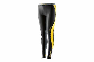 Skins DNAmic Youth Compression Long Tights Black/Citron (28% OFF)