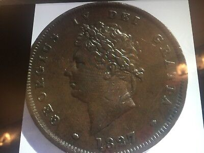 1827 Penny George Iv Really Nice Grade No Corrosion At All.