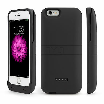 Tylt Energi Sliding Power Case for iPhone 6 and 6S - Retail Packaging - Black