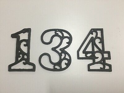 Usa Er Cast Iron House Address Numbers 0 9 Rustic Brown Set Of 3