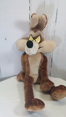 "Wile E Coyote 1998 VTG Looney Tunes Large 23"" Stuffed Plush ACE Toy RARE"