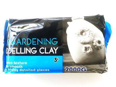 Artoys Air Hardening Modelling Clay - AIR DRY CLAY - White 2kg Craft Art (A0633)