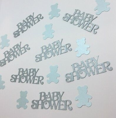 Baby Shower Confetti Party Table Decoration Boy Pack Baby Blue Bear Teddies  New