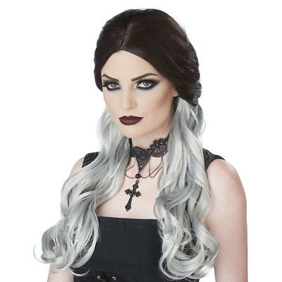 Adult Gothic Morbid Mistress Wig Halloween Witch Vampire Costume Hair Accessory