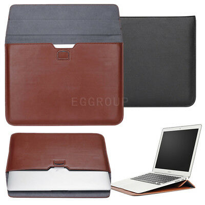 """PU Leather Laptop Sleeve Case Carry Bag For Macbook Mac Air Pro 13"""" 15"""" NoteBook"""