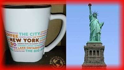 Dunkin Donuts NEWYORK NY USA Destinations Coffee Mug/Cup 12 oz. Limited Ed NEW