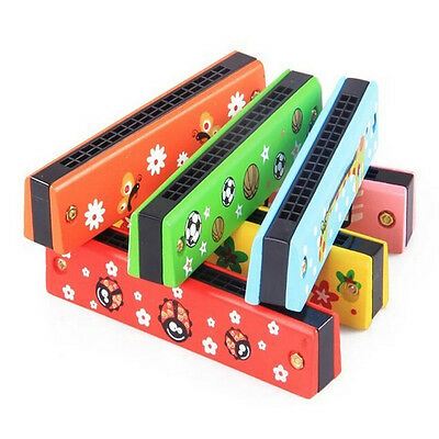 New Baby Wooden Music Toy Popular Harmonica Musical Instruments Developmental