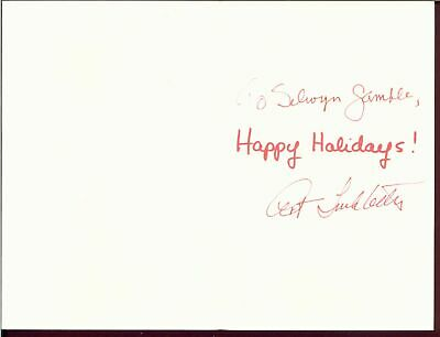 Art Linkletter Holiday Card Heart Baloon Signed Autographed W/Coa